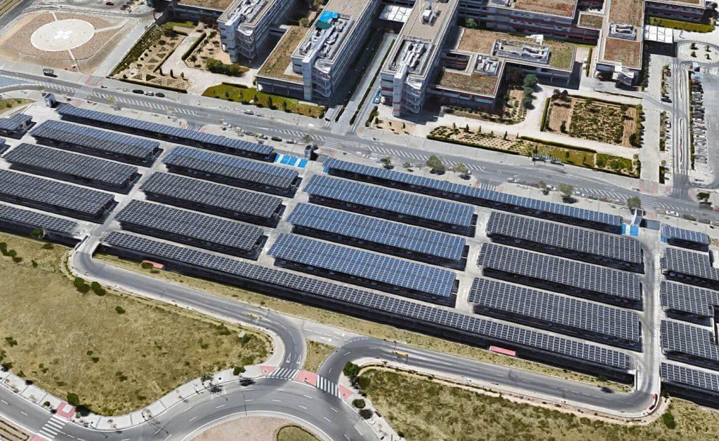 Parking fotovoltaico Hospital Madrid