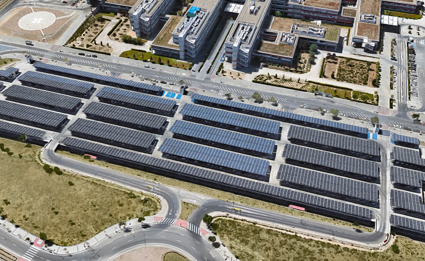 Parking fotovoltaico Hospital Madrid